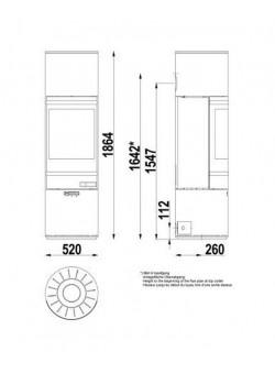 Печь- камин Scan 85-4
