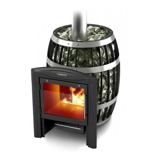 Дровяная печь для бани Термофор Саяны Carbon, Inox Витра