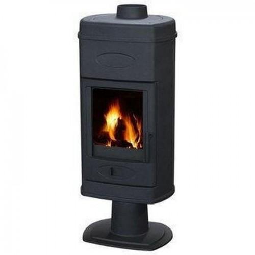Печь-камин Plamen HANA  эмалированная (черная)
