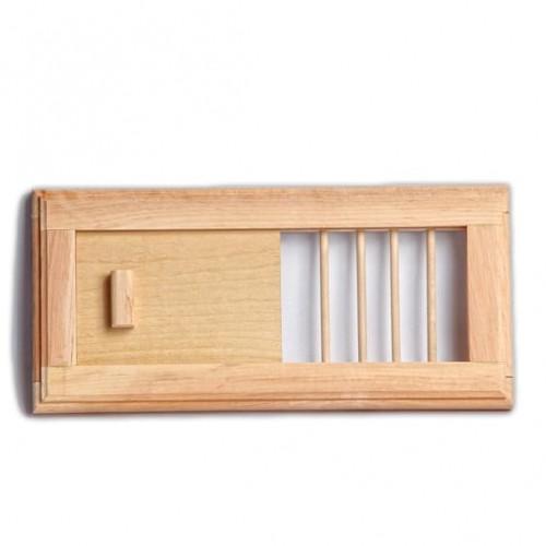 Деревянная вентиляционная решетка №2 для бани и сауны