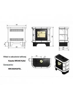 Кафельная печь Kratki WK440