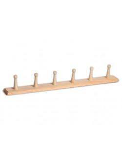 Вешалка для бани прямая на шесть крючков