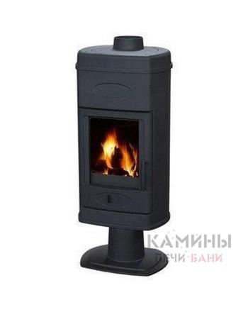 Печь-камин HANA  эмалированная (черная)