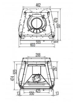 Каминная топка Austroflamm 55x45 K распашная дверца, плоское стекло
