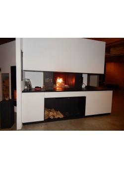 Топка-камин Brunner Urfeuer 50/66 кухонный с грилем, функциональными нишами