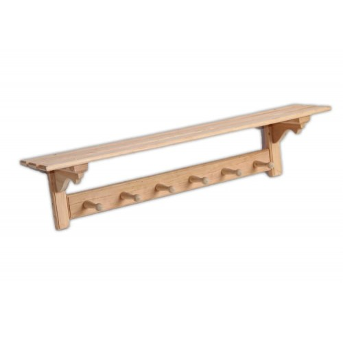 Деревянная вешалка  для бани и сауны элитная на шесть крючков