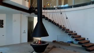 Подвесной современный камин для дома Seus