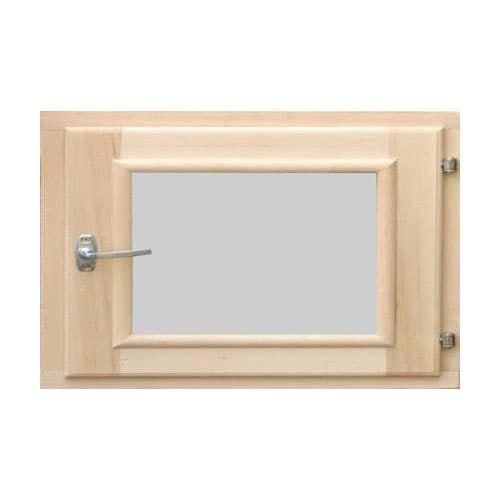 Деревянное окно для бани 500 × 600 миллиметров