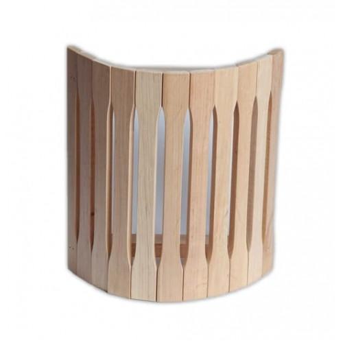 Деревянный  абажур угловой п-1 для бани