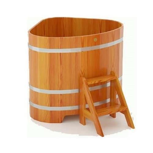Купель для бани угловая из лиственницы