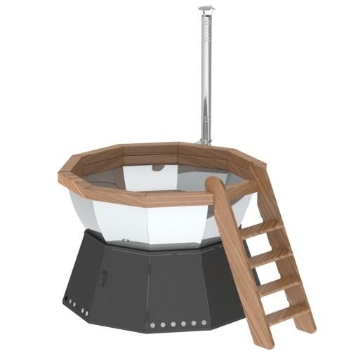 Банный чан - 10 граней на подставке с ветрозащитой