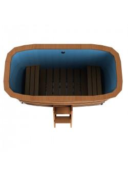 Прямоугольная купель с пластиковой вставкой высота 1,2 м