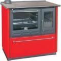 Отопительно-варочная печь Plamen 850 Glas красный цвет