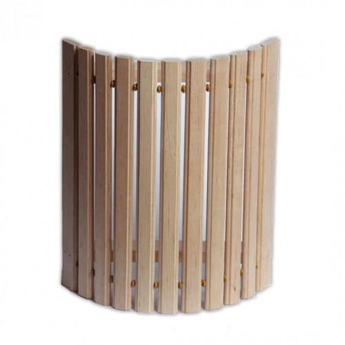 Деревянный  абажур угловой средний