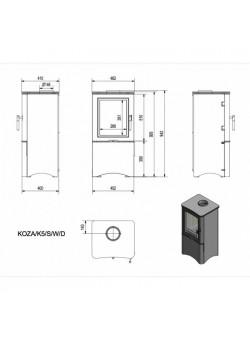 Печь-камин Kratki Koza/K5/S/W/D
