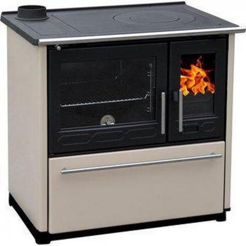 Отопительно-варочная печь Plamen 850 Glas бежевый цвет