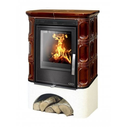 Кафельная печь ABX Marina KPI, с теплообменником, с допуском воздуха