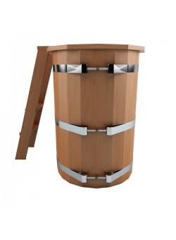 Овальная купель с пластиковой вставкой высота 1,2 м