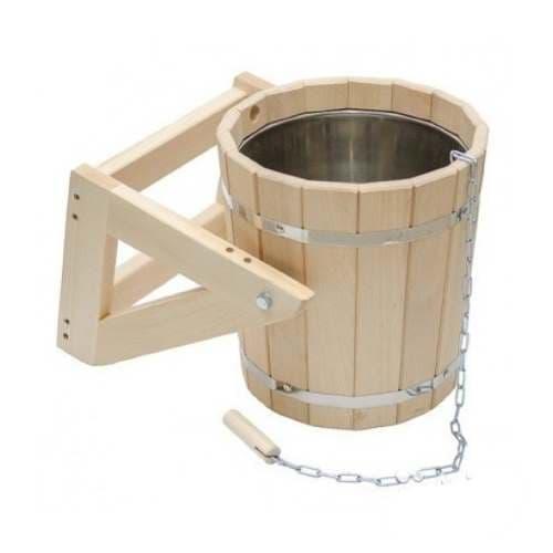 Обливное устройство для бани 15 л со вставкой из нержавейющей стали