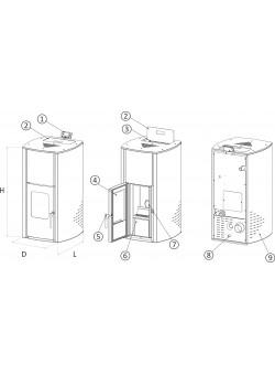 Пеллетный камин BURNiT Comfort 13 кВт