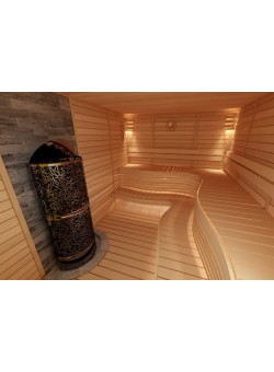 Электрическая печь SAWO DRAGONFIRE, Heaterking 21 кВт (пристенная)