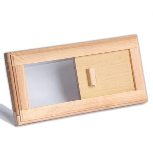 Деревянная вентиляционная решетка №3 для бани и сауны