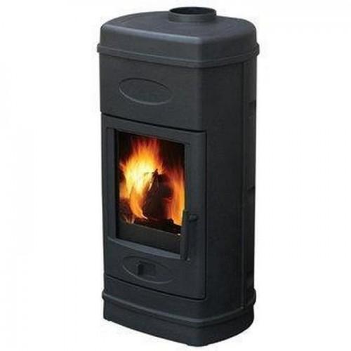 Печь-камин Plamen AURORA эмалированная (черная)
