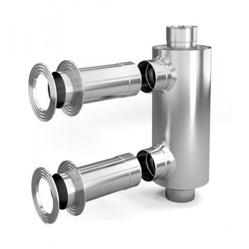Дымоход конвектор для смежного помещения