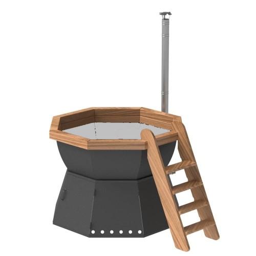 Банный чан - 8 граней на подставке с ветрозащитой на 4-6 человек