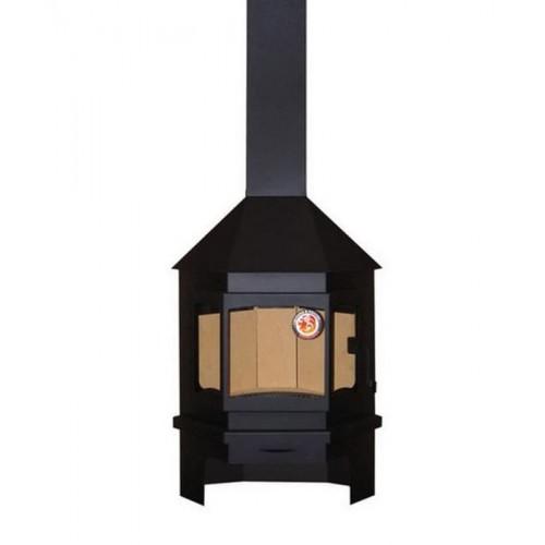 печь-камин угловой Мюнхен (черный)