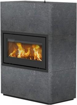 Печь-камин Lotus Beto 470WM - Black door