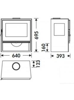 Печь-камин Panadero Java 3V