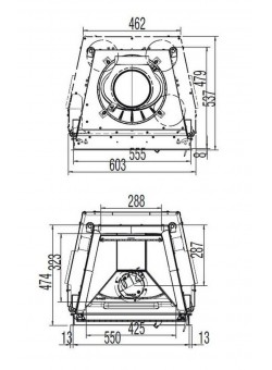Каминная топка Austroflamm 55x51 K распашная дверца, плоское стекло