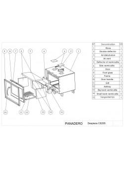 Топка Panadero C-820-S