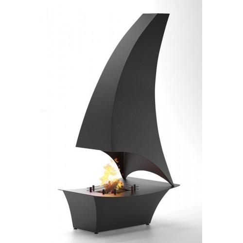 Современный подвесной камин ПАРУС