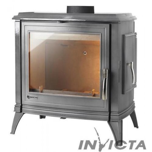 Чугунная печь Invicta Sedan 15 (L) серая эмаль
