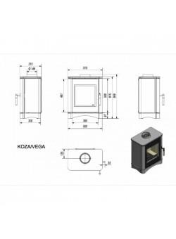 Печь-камин Kratki Koza/Vega/150