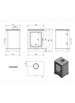 Печь-камин Kratki Koza/K5/S (сталь)