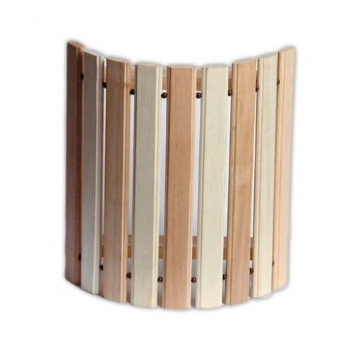 Деревянный  абажур угловой комбинированный широкий