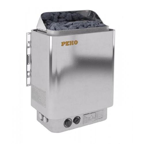 Электрическая печь для сауны PEKO EHG-60 цвет хромо-глянцевый