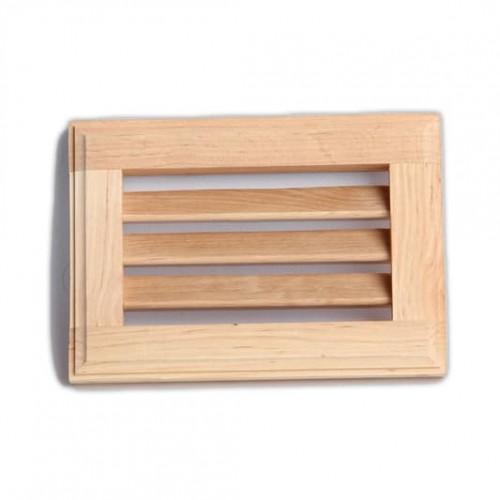 Деревянная вентиляционная решетка №1 для бани и сауны
