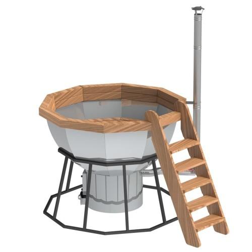 Банный чан - 10 граней на подставке с печью
