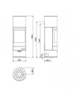 Печь- камин Scan 85-5