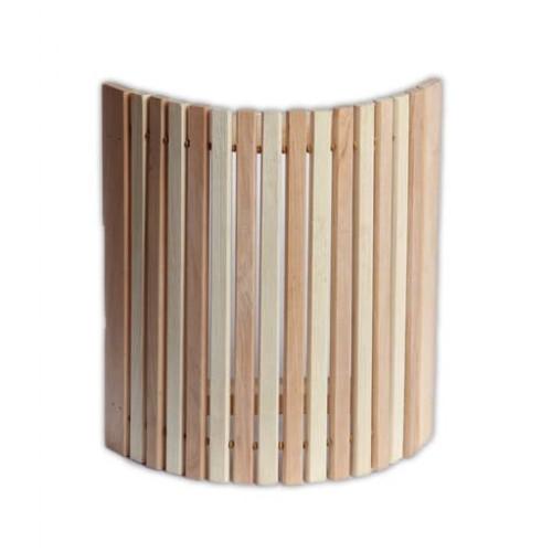 Деревянный  абажур  угловой комбинированный узкий