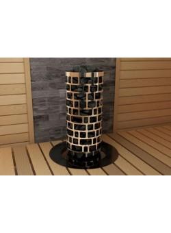 Печь для бани SAWO Aries Круглая 10,5 кВт встроенный блок