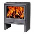 Печь-камин Plamen BARUN 20 кВт эмалированная (серая)