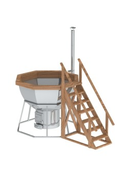 Банный чан 8 граней на подставке с печью с нержавеющей стали