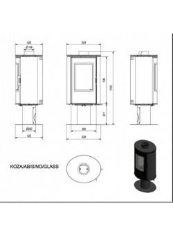 Печь-камин Kratki Koza/AB/S/N/O/GLASS