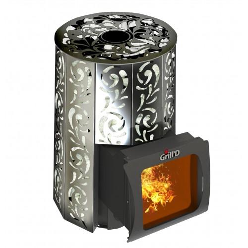 Печь для бани Grill'D Violet Short Window Max (Жадеит 80 кг)