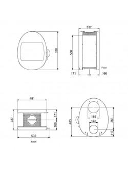 Печь- камин Scan 66-1